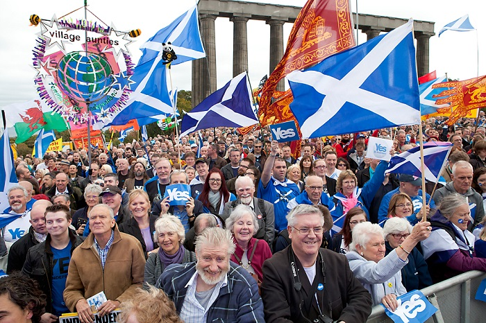 YES March & Rally for Scottish Independence.  Image by Ivon Bart