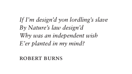 Robert Burns quote Independent Minds