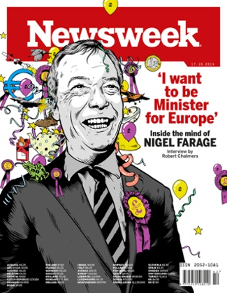 Newsweek European issue Nigel Farage cover 17 October 2014
