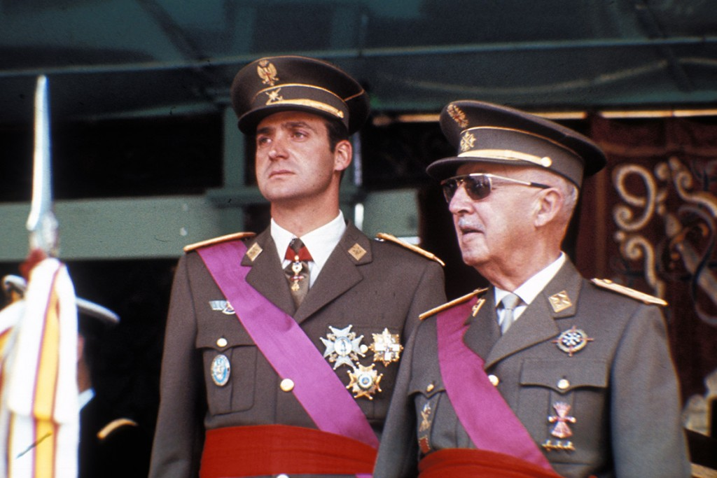 Franco King Juan Carlos 24 May  1974 Victory Parade Madrid - Getty