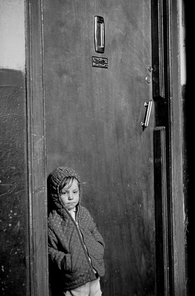 Image 1 Child-waiting-at-flat door 1971