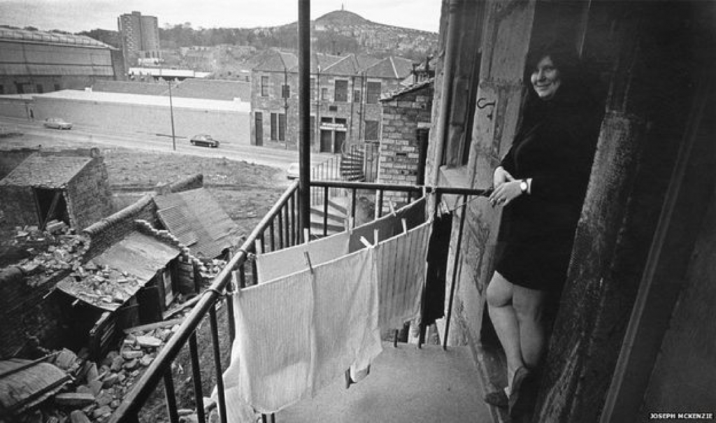 Image 8.Woman on plettie Dundee 1970s