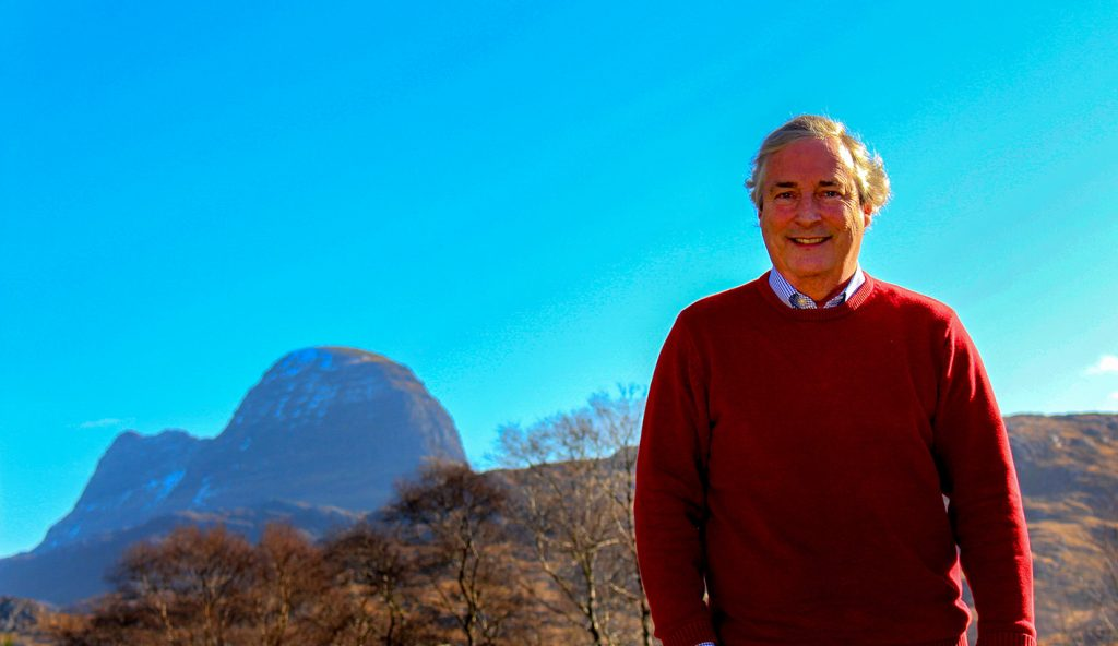 Gordon Robertson with Suilven in the background