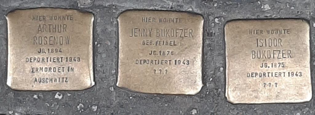 3 doors down from my house in Berlin, cobbles commemorating Jews deported and murdered in 1943