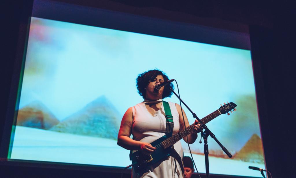 Nadia Buyse at Dardishi Festival 2019 photo credit Noor Abdel Razik